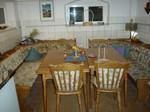 die Sitzecke in der Reiterstube und Küche